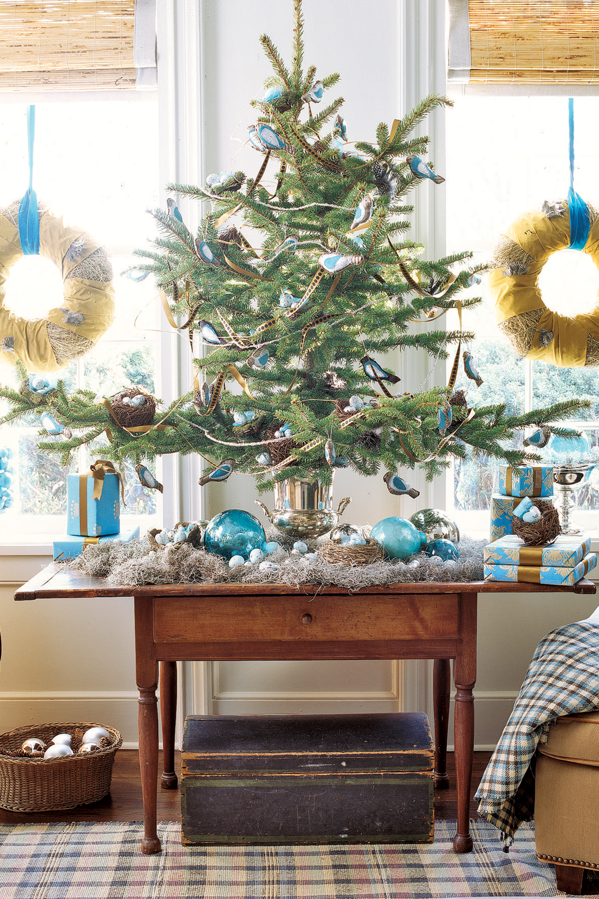 60 best christmas tree decorating ideas how to decorate a christmas tree - Blue Christmas Trees