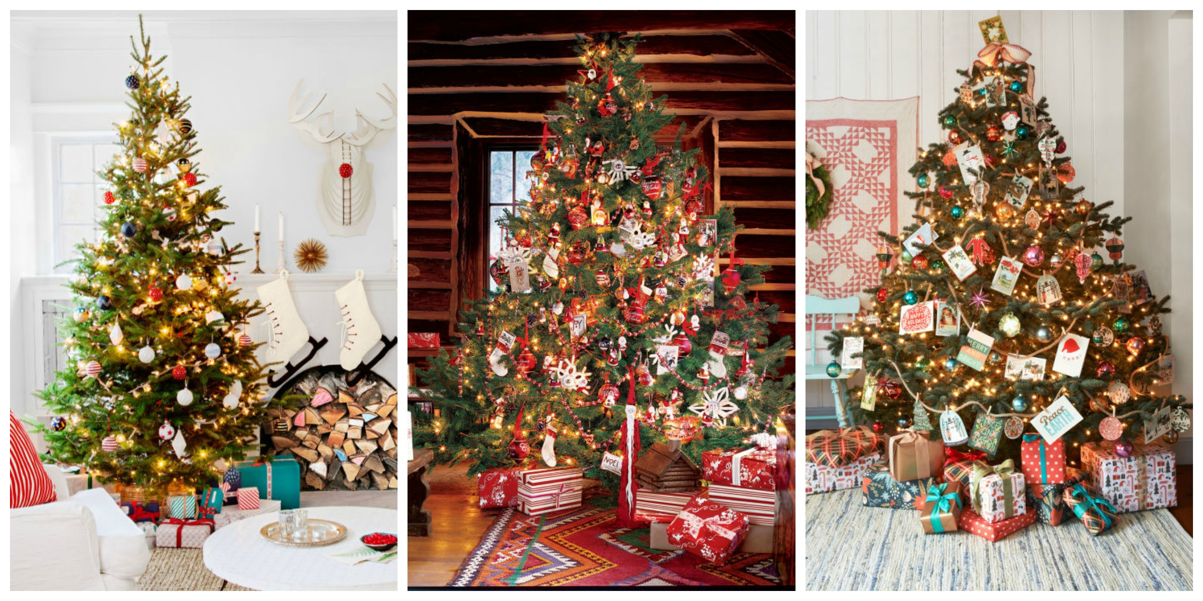 60 best christmas tree decorating ideas how to decorate for Christmas tree mural