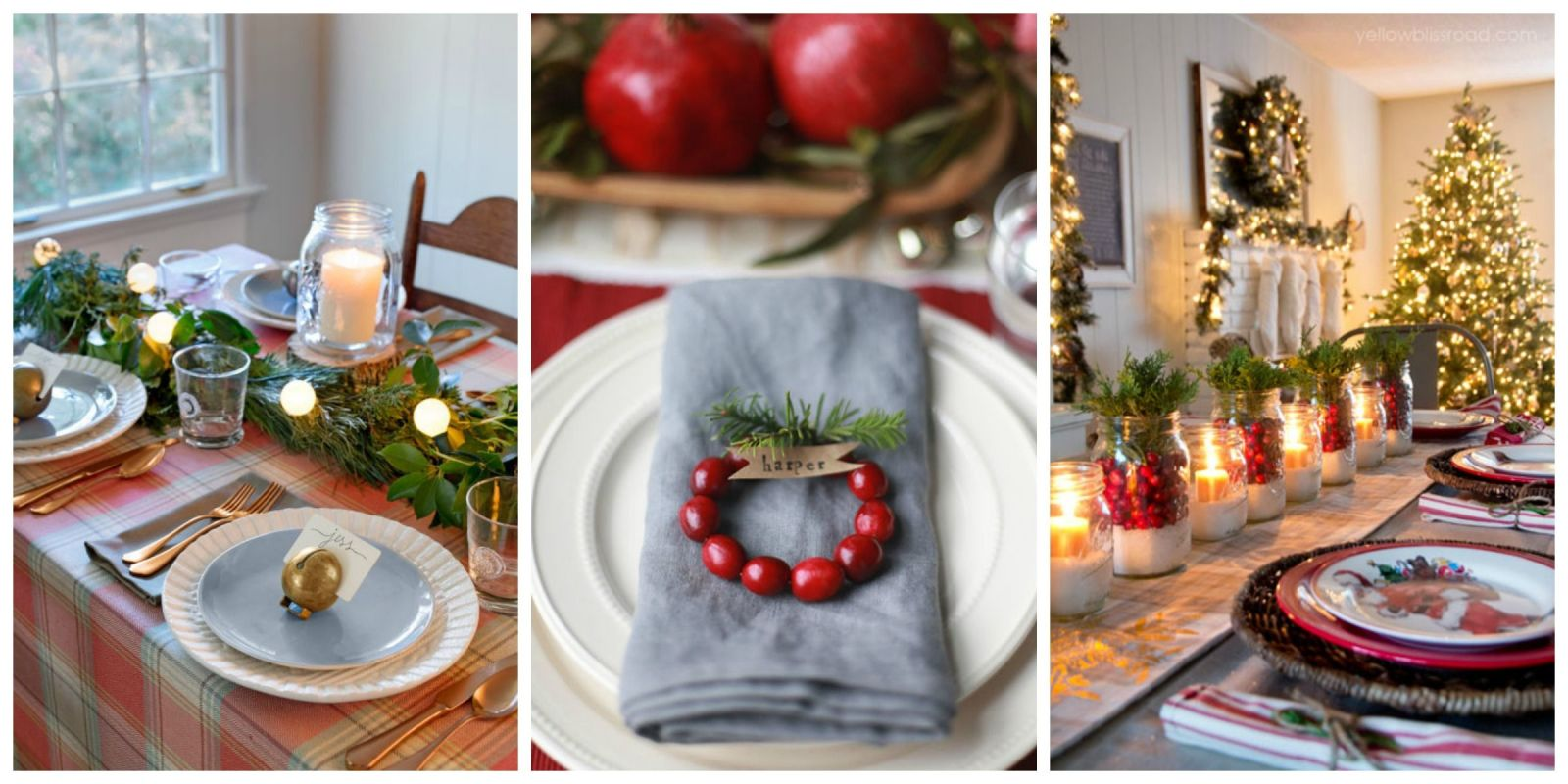 Country christmas table decoration ideas - 45 Best Christmas Table Settings Decorations And Centerpiece Ideas For Your Christmas Table