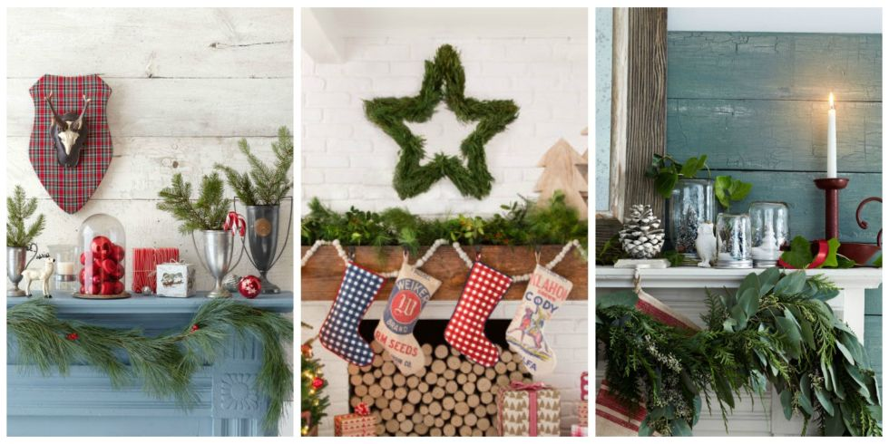 33 Christmas Mantel Decorations Ideas for Holiday Fireplace – Ideas for Mantel Decor
