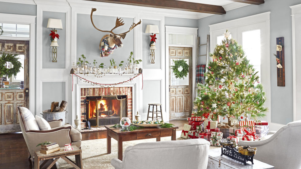 tennessee home decked out with vintage christmas decor 30 Best Christmas Home Tours  Houses Decorated for