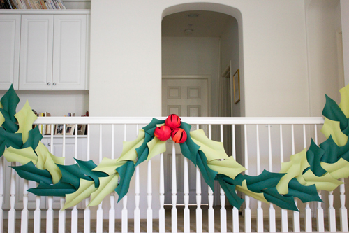 Oversized Berry and Holly Garland