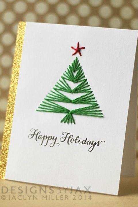 12 diy christmas card ideas easy homemade christmas for Creative diy christmas cards