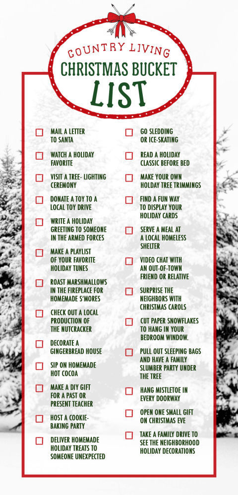25 Fun Christmas Activities Christmas Bucket List Ideas – Christmas Checklist Template