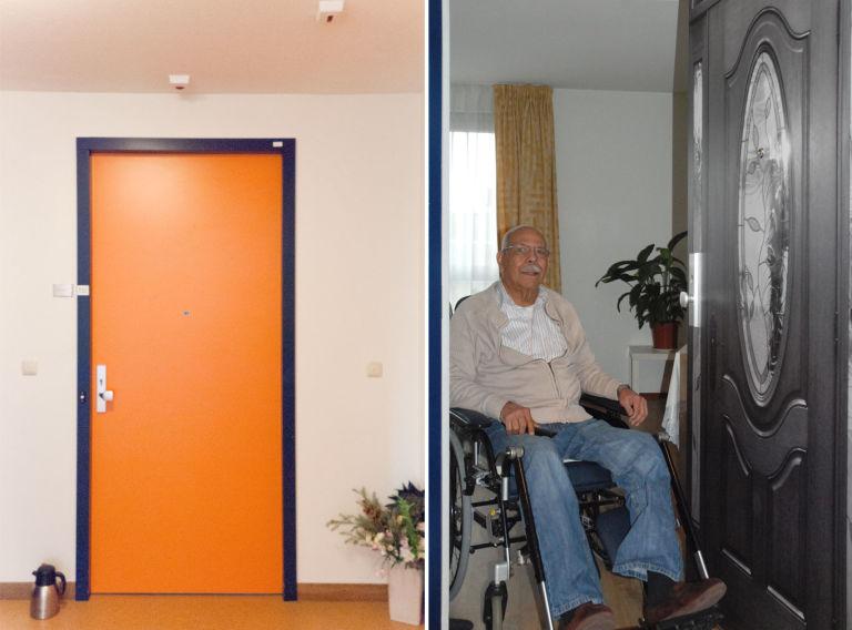 Custom Door Makeovers Give Dementia Patients a More Comfortable Living Environment & Door Wallpaper at Nursing Home - Door Makeovers Help Dementia Patients Pezcame.Com