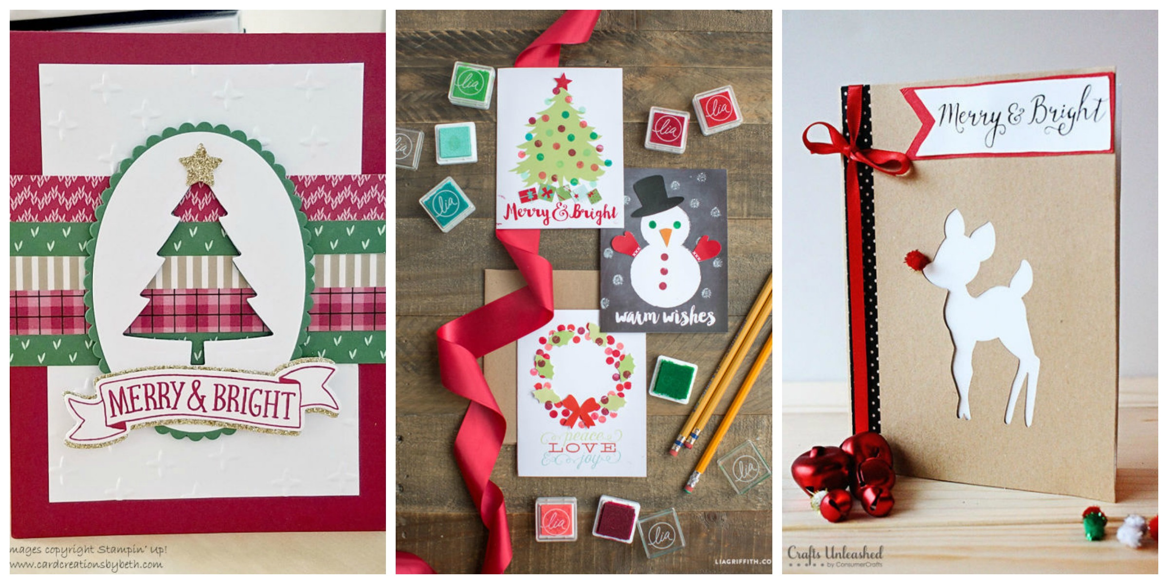 15 diy christmas card ideas  easy homemade christmas