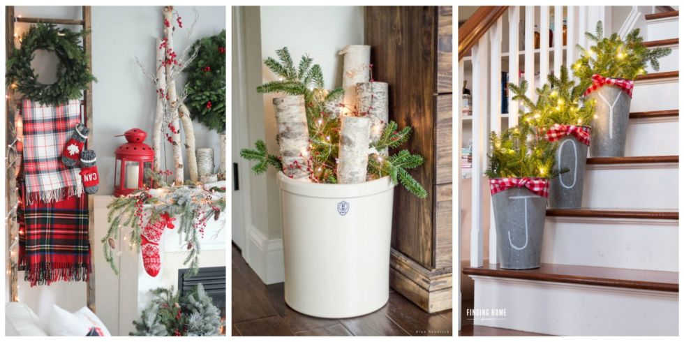 Farmhouse Christmas Decorating Ideas - Holiday Decorating Ideas ...