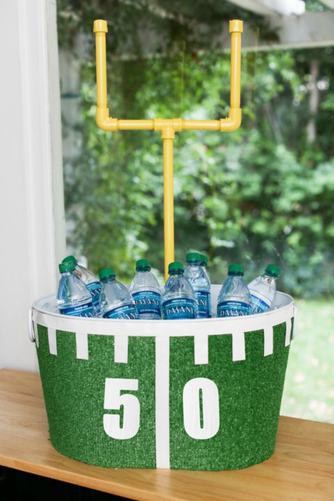 Whether your party is indoor or outdoors, this tub will keep your beer, water bottles, and soda cans ice cold. 