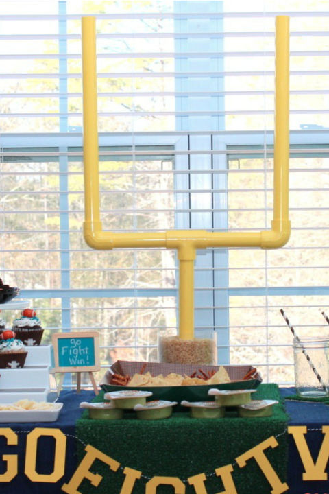 Set up your very own end zone using PVC pipes, spray paint, and this blogger's easy to follow instructions.