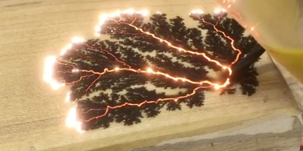 Canadian Woodmaker Uses Electricity To Burn Beautiful