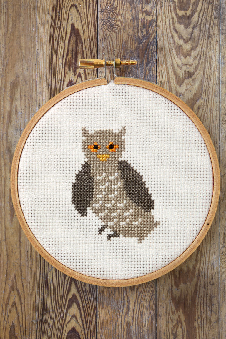 Free cross stitch patterns printable cross stitch templates owl pattern download the free cross stitch owl pattern from country livings januaryfebruary 2017 issue bankloansurffo Image collections