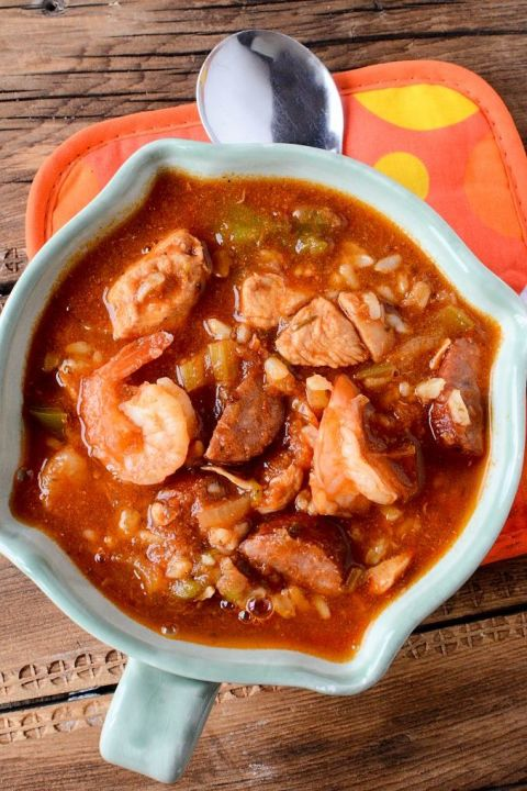 With chicken, sausage and shrimp, this hearty stew will make you feel like you've traveled to New Orleans.