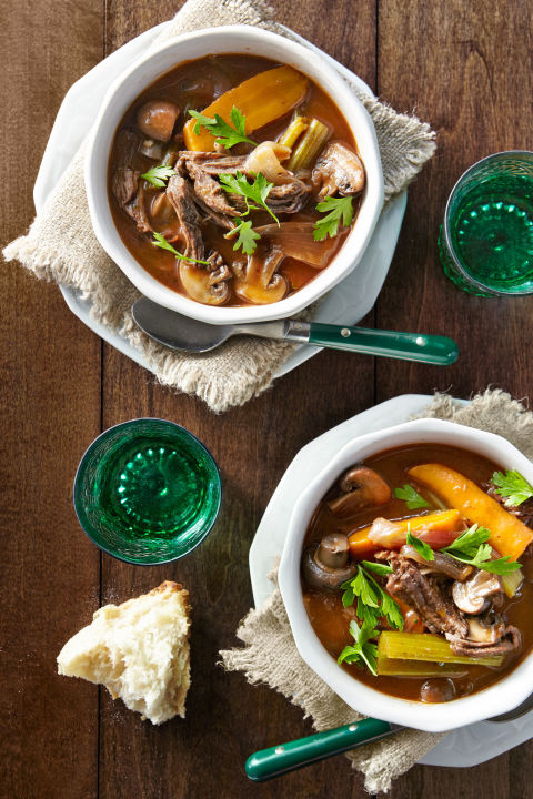 Because red wine makes everything better–including stew.