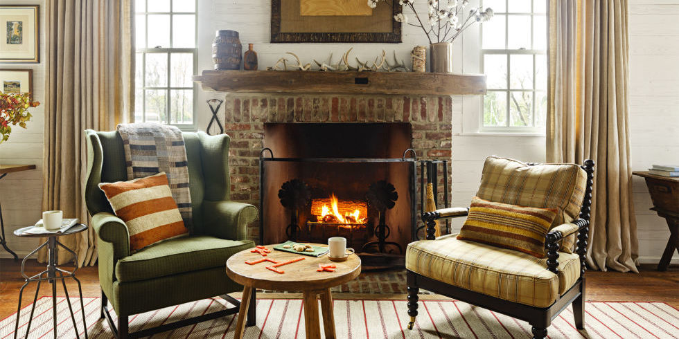 cozy living rooms winter decorating ideas - Decorating Ideas For Living Rooms With Fireplaces