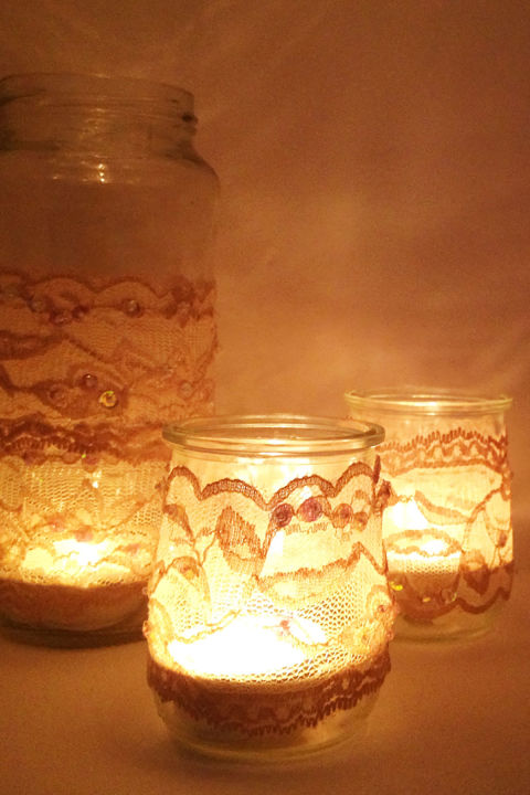 Lace Candles. DIY Romantic Bedroom Decorating Ideas   Country Living