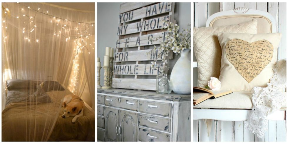 Diy Bedroom Wall Decorating Ideas diy romantic bedroom decorating ideas - country living