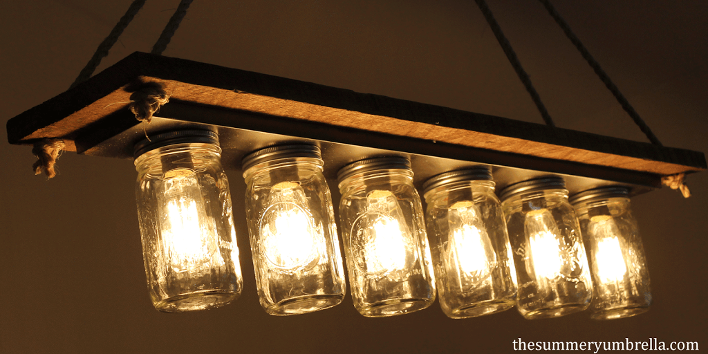Every Dining Room Needs One Of These Diy Rustic Mason Jar Light Fixtures