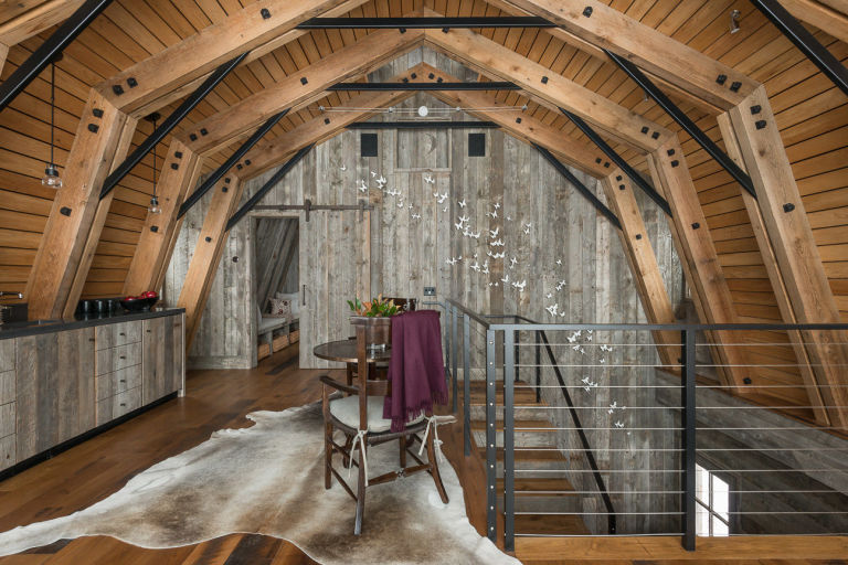 This Guest House Was Built to Look Like a Rustic Barn Rustic