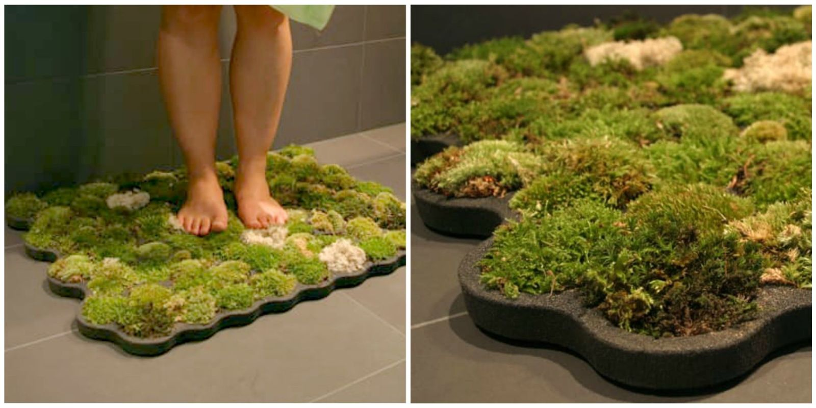 Superb Moss Bath Mat Adds Nature To Your Bathroom   How To Make DIY Moss Bath Mat