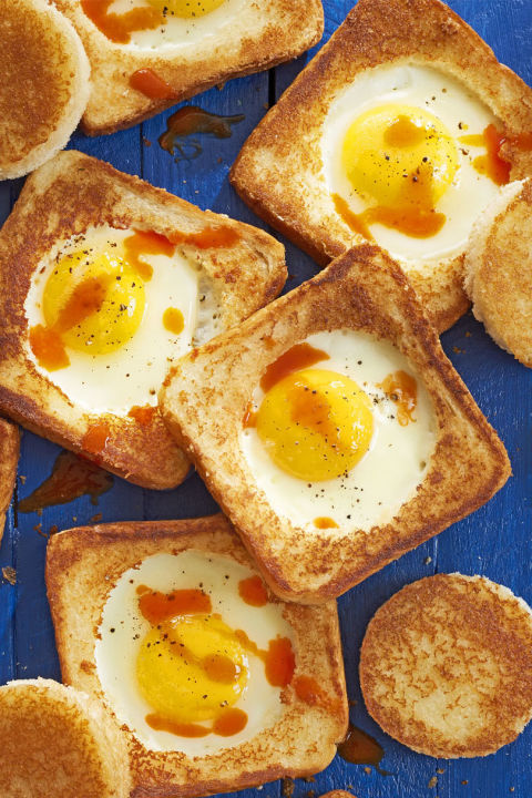 Only thing better than traditional egg-in-a-hole? Adding a bit of parm. Get the recipe.