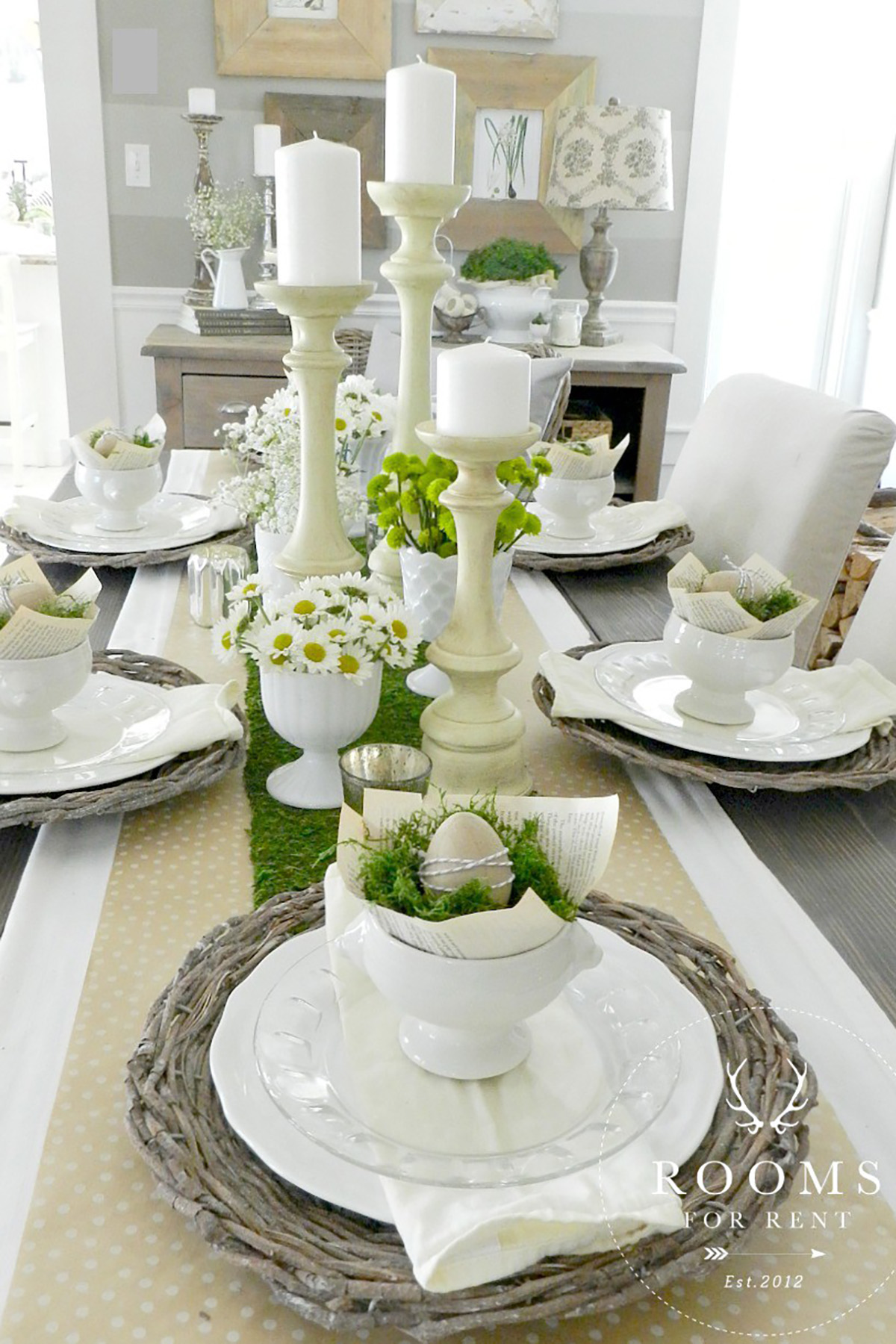 25 easter table decorations centerpieces for easter for Dinner table decoration ideas