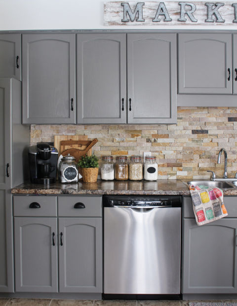 Modern Farmhouse Kitchen Cabinets 10 diy kitchen cabinet makeovers - before & after photos that