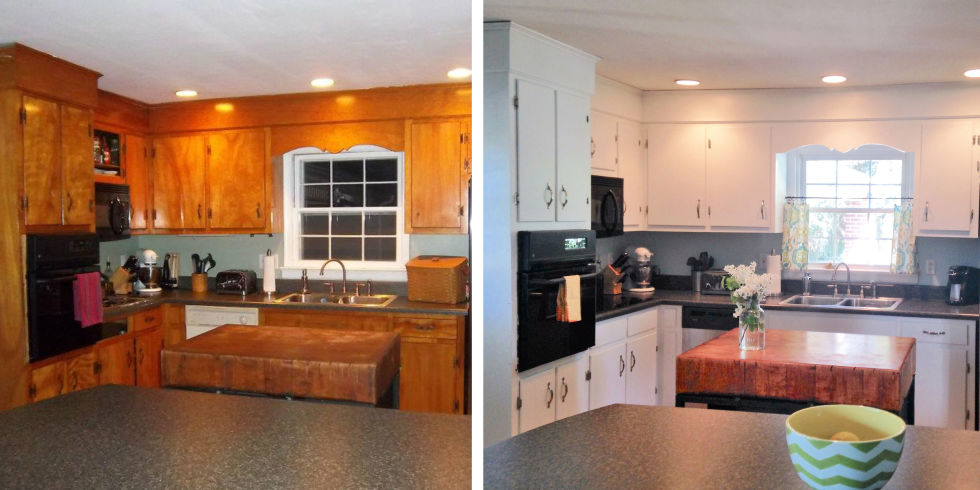 Kitchen Cabinet Makeovers Before And After 10 diy kitchen cabinet makeovers - before & after photos that