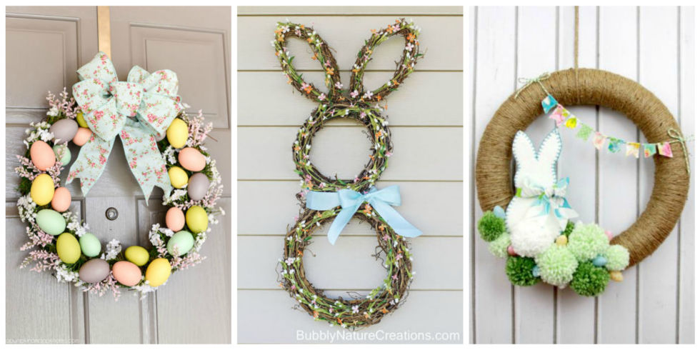 10 DIY Easter Wreath Ideas - How to Make a Cute Easter Door Wreath