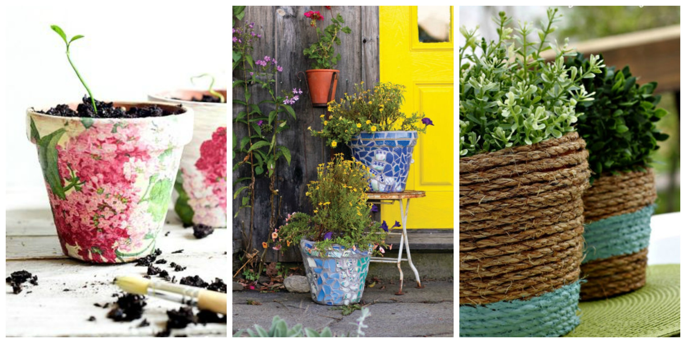24 Seriously Pretty Diy Flower Pot Ideas How To Decorate