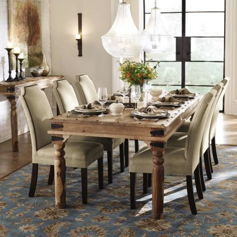 Pictured Home Decorators Collection 7 Ft Fields Weathered Brown Dining Table 899