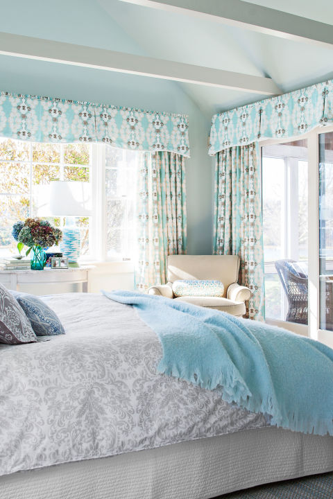 Blue themed living room