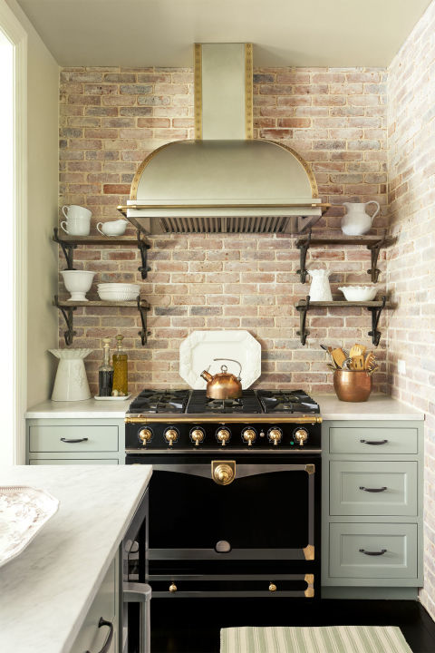 brick backsplash - Backsplash Design Ideas