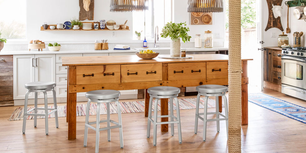 Add Storage Style And Extra Seating With A Standalone Kitchen Island