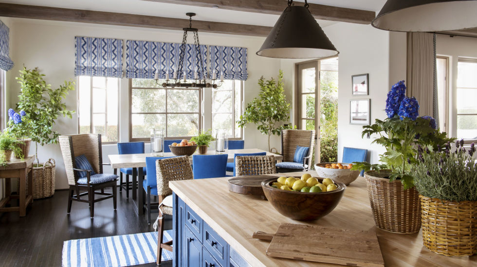 2  Woven blue accessories add warmth and casualness. 22 Best Blue Rooms   Decorating Ideas for Blue Walls and Home Decor