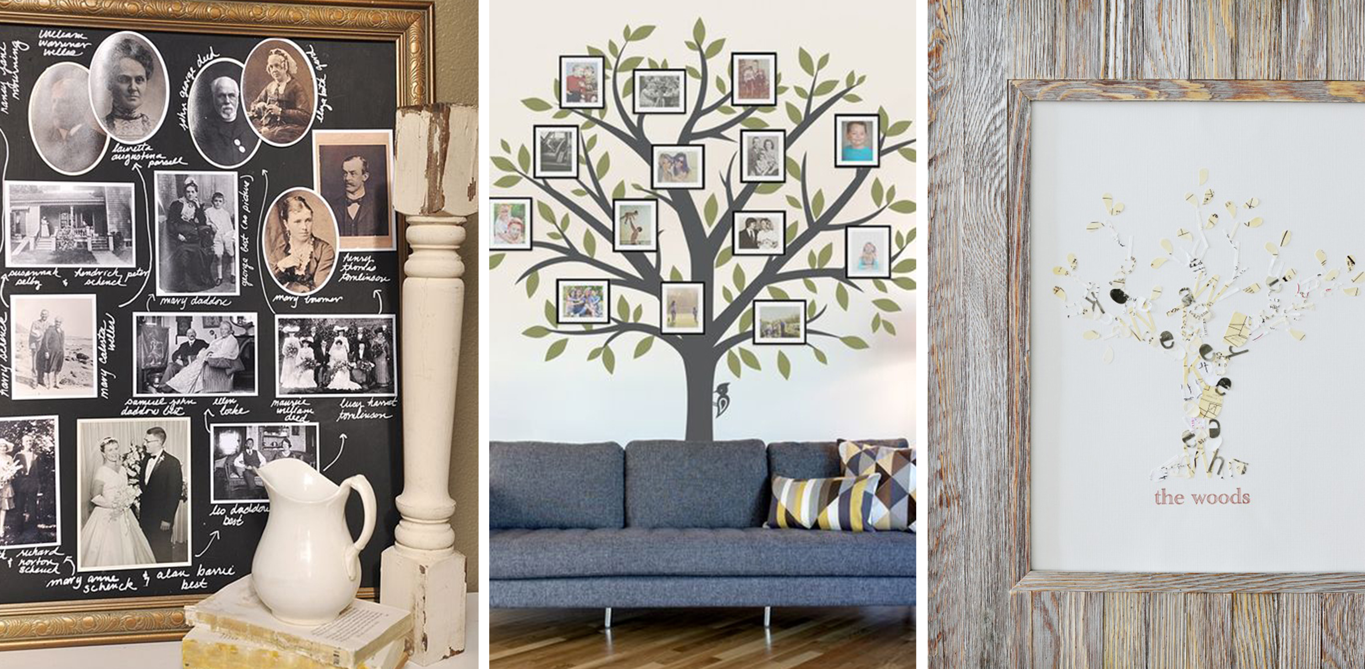 Creative Ways To Display Quotes: 12 Family Tree Ideas You Can DIY