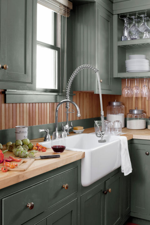 green country kitchens. sage green country cottage kitchen with