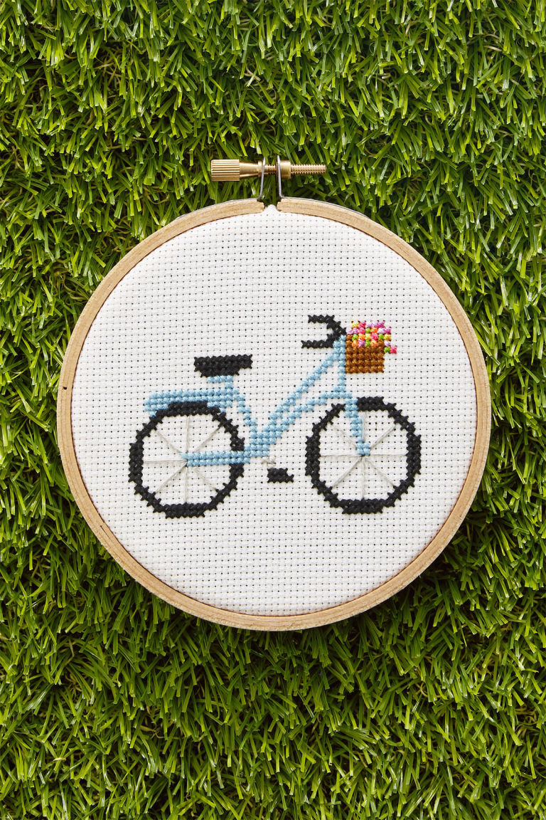 Cross stitch country crafts magazine back issues - Bike Pattern Download The Free Cross Stitch Bike Pattern From Country Living S April 2017 Issue