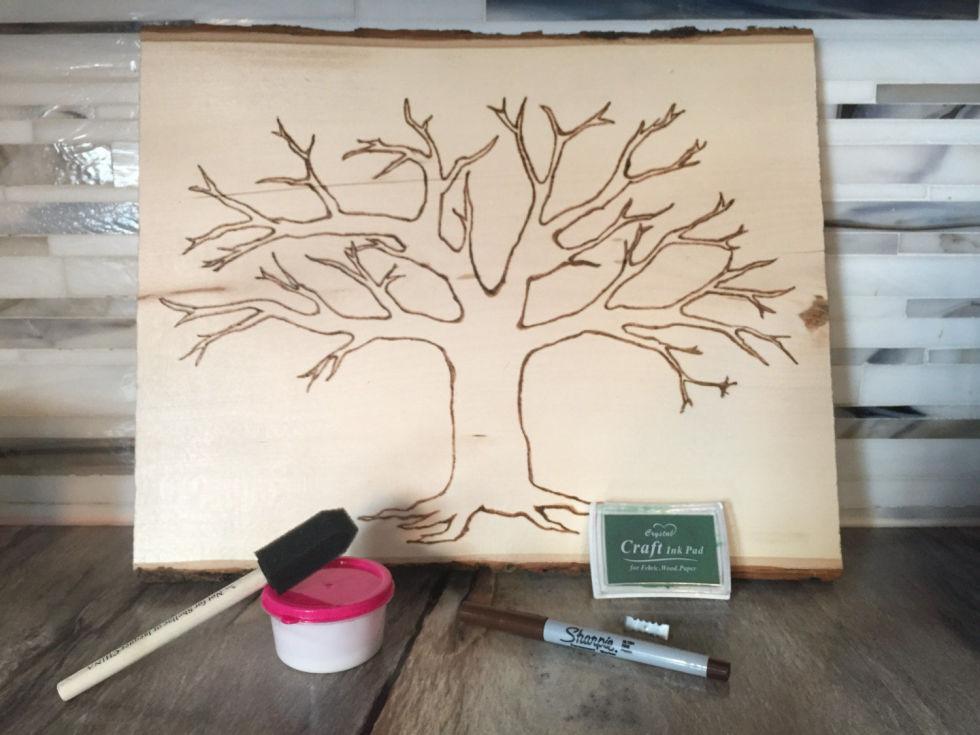 4 wood burned family tree - Family Tree Design Ideas
