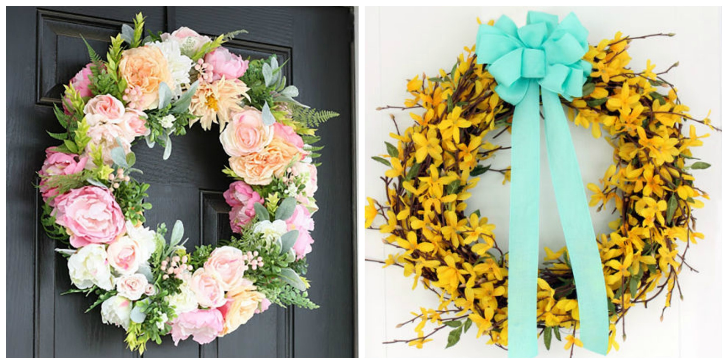 23 diy spring wreaths how to make a spring wreath yourself for How to make door wreaths for spring