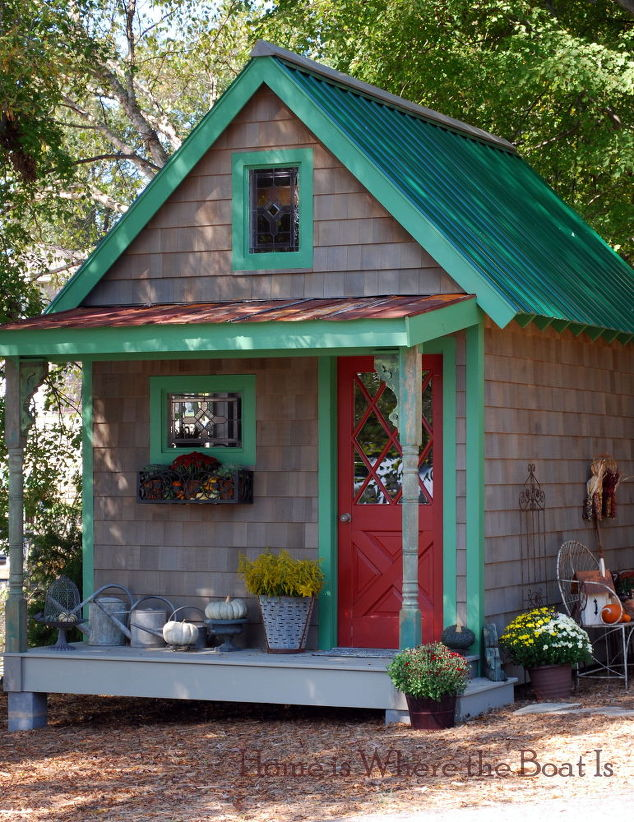 Garden Sheds With Porch 14 whimsical garden shed designs - storage shed plans & pictures