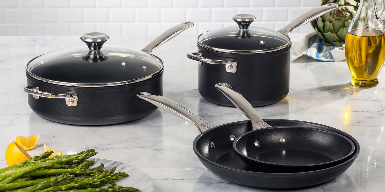 le creuset just released a new line of nonstick pans le creuset