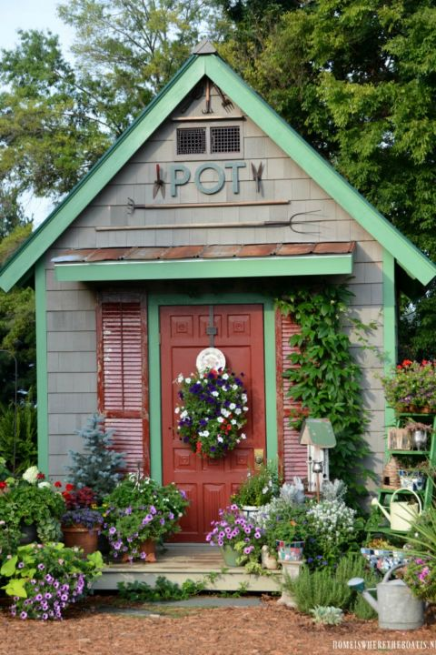 Whimsical Garden Shed Designs Storage Shed Plans Pictures