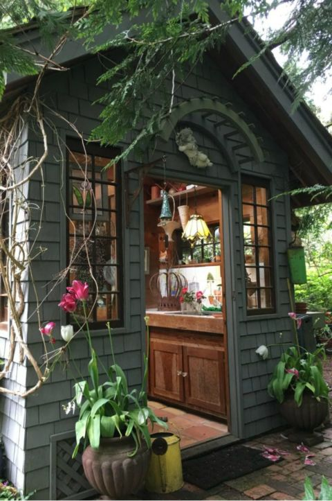 Good Rustic Garden Shed
