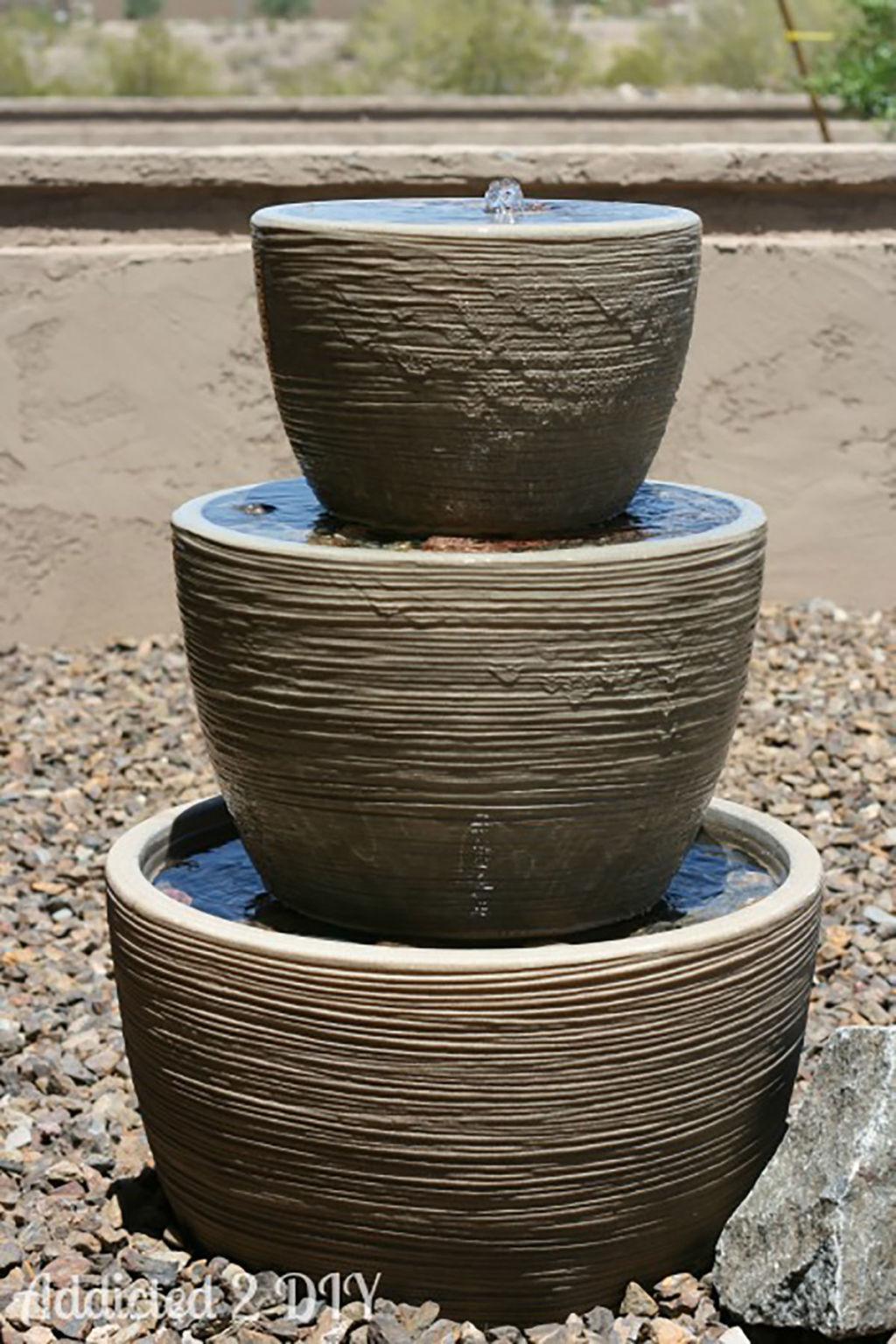 15 diy outdoor fountain ideas how to make a garden fountain for