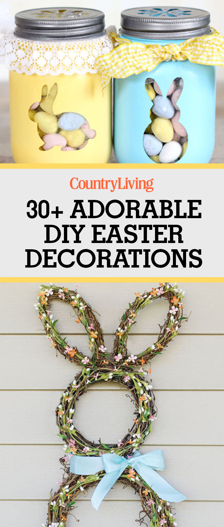 Diy Spring Decor: 30 DIY Easter Decorations From Pinterest