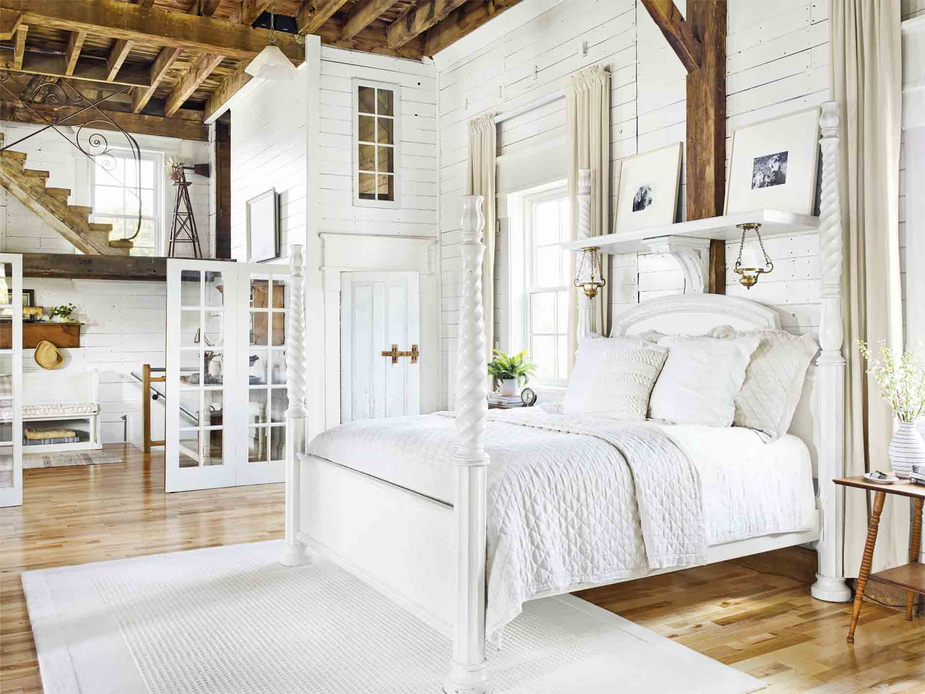 Create A Clean Calm Sleeping Space By Using White Decor In Your Bedroom