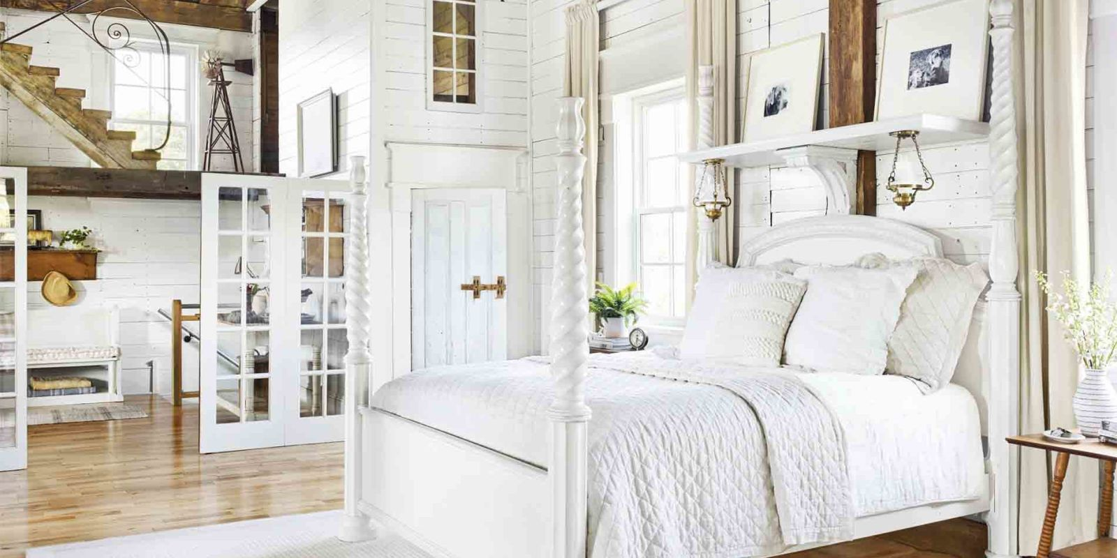 28 best white bedroom ideas how to decorate a white bedroom Bedrooms decorated in black and white