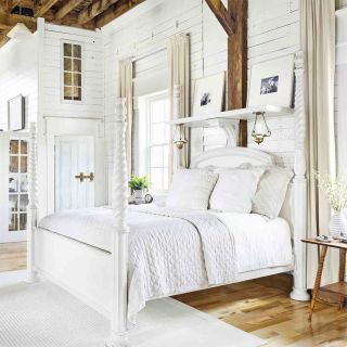 White Rustic Bathroom create a clean calm sleeping spaceusing white decor in your