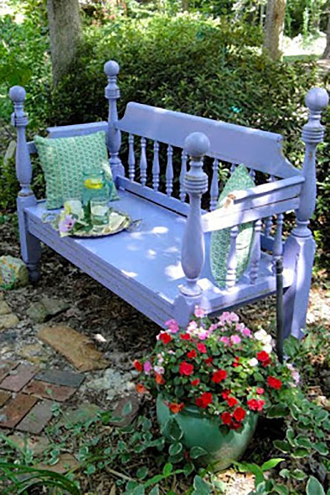 bed frame lavender bench