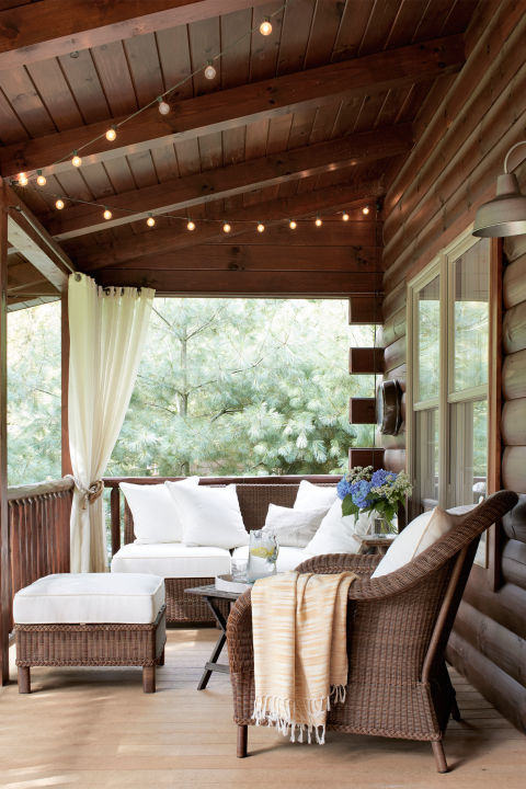 Lovely String Lights Are An Easy, Affordable Way To Turn Your Porch Into An  Enchanting Oasis. Let Them Drape From The Ceiling Or A Railing, Or Hang  Them From A ... Part 19